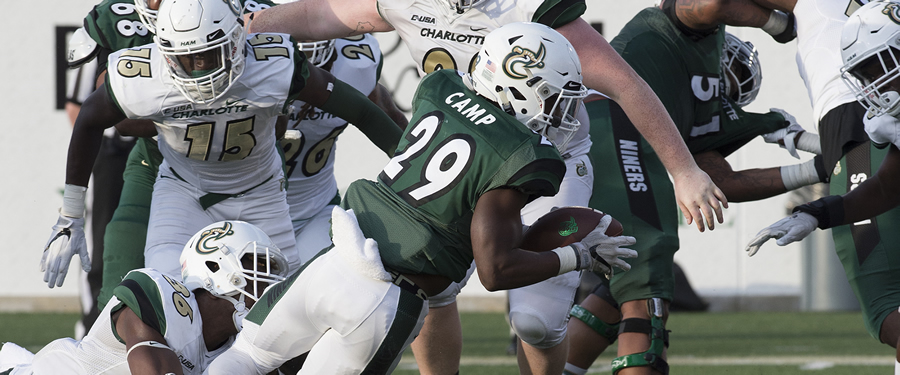 An image from the 2018 Green-White game