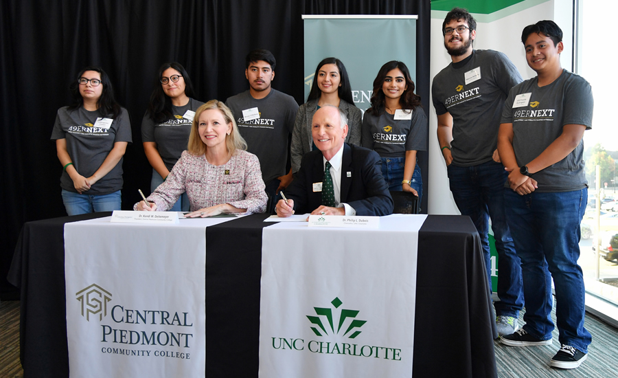 UNC Charlotte, Central Piedmont announce innovative co-admission program