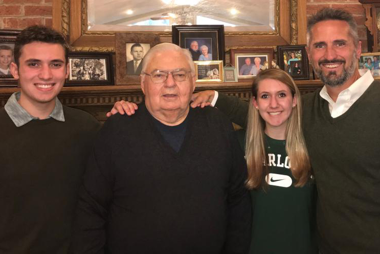 L to R: Jack Martin, Wiley Martin (Charlotte College, class of '59), Kaylee Martin, James Martin '95.
