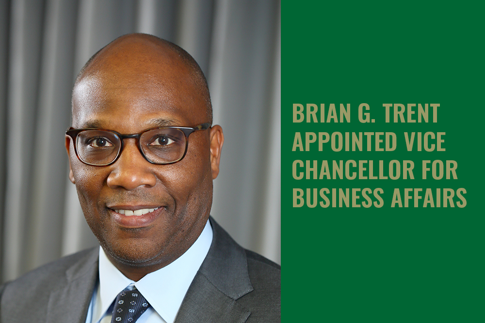 Brian G. Trent, chief operating officer for the National Eye Institute (NEI) at the National Institutes of Health, has been appointed vice chancellor for business affairs at UNC Charlotte following a national search.