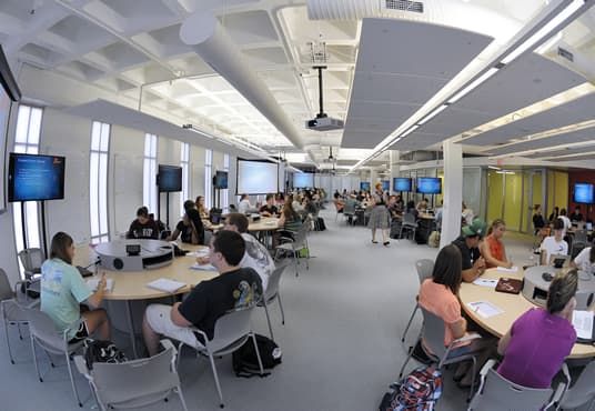 New Active Learning Classrooms Fostering Real World