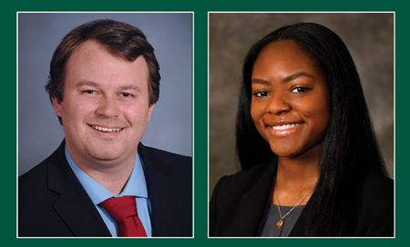 Beekman and Sampson named 2021 Marian Drane Graham Scholars