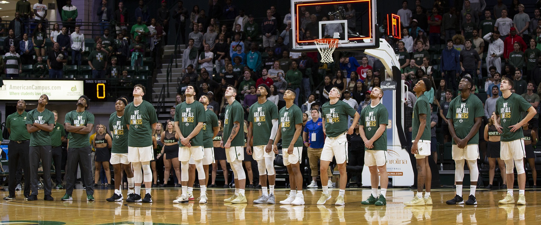 On Friday, Oct. 25, several thousand fans packed Halton arena as the Charlotte 49ers hosted the Georgia Bulldogs in a benefit exhibition basketball game. Proceeds from the game went to the April 30th Remembrance Fund