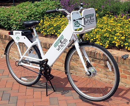 Photo of a UNC Charlotte Wheels bike