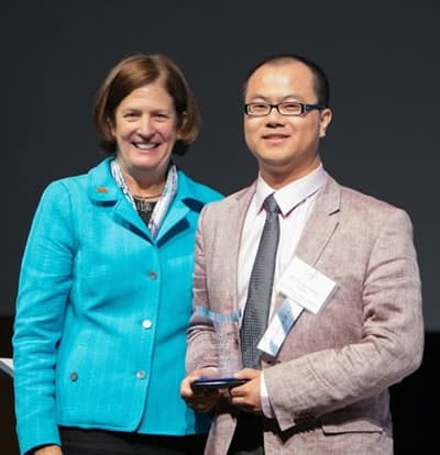 Victor Chen was honored by Charlotte Chamber
