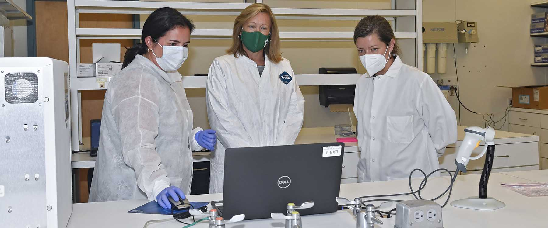 ampus lab for processing COVID-19 tests proves critical to effort for tracking, testing and tracing coronavirus