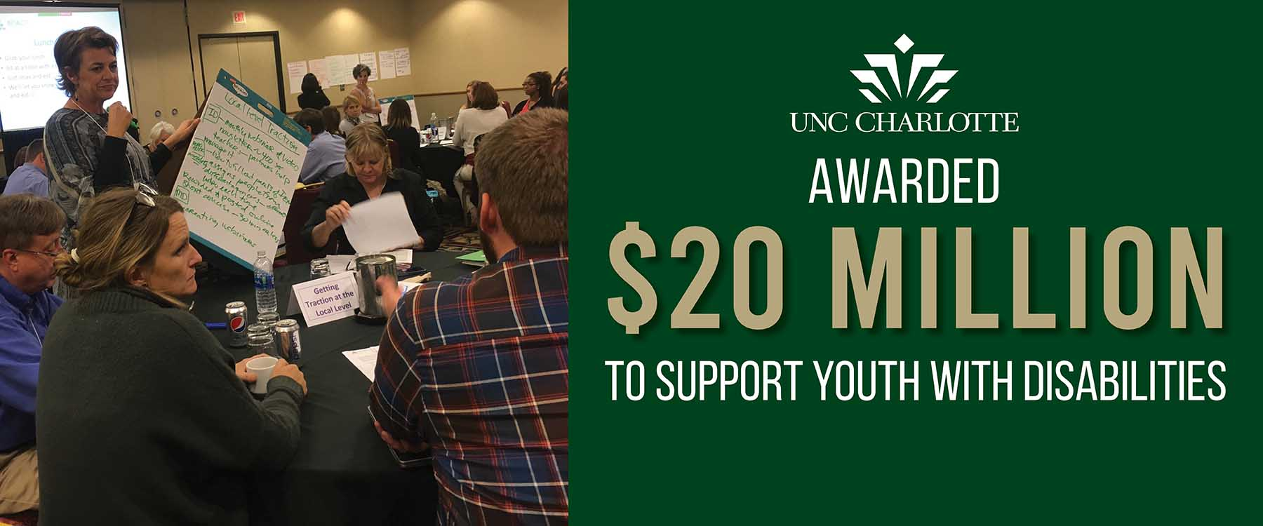Largest grant in UNC Charlotte history expands National Center for Youth with Disabilities