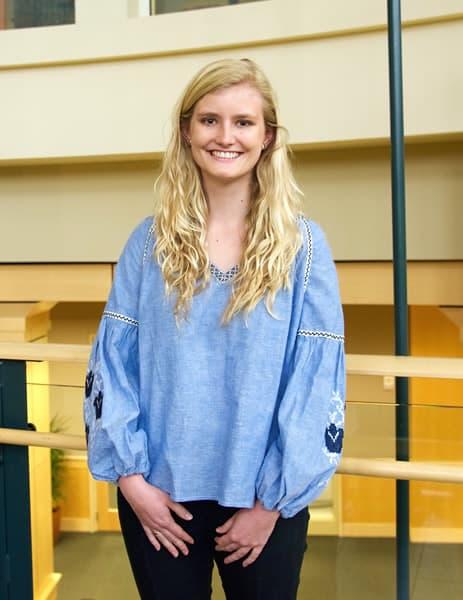 Photo of UNC Charlotte's first-ever Ertegun Graduate Scholar, Eileen Jakeway