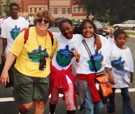 Gloria Jones with students