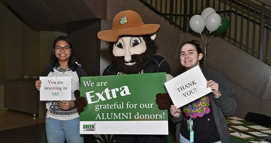 Green with Gratitude is opportunity for students to say 'Thank you'