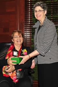 Theresa Perez with Provost Joan Lorden
