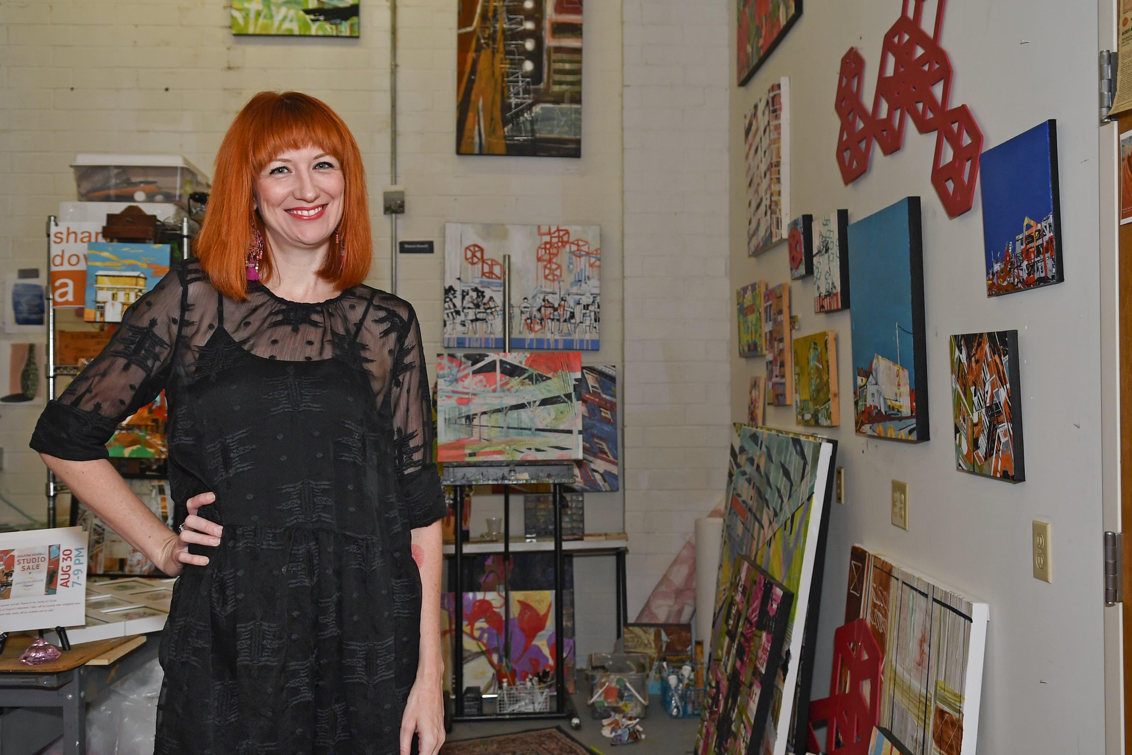 Sharon Dowell in her studio
