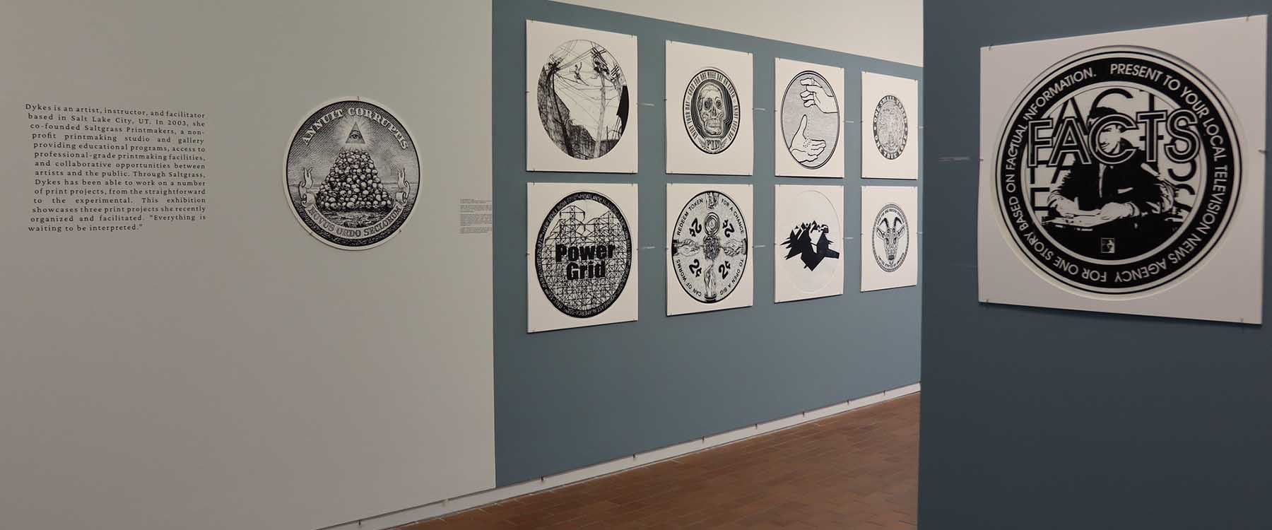 """""""Signs + Gestures,"""" an exhibition in the Projective Eye Gallery in The Dubois Center at UNC Charlotte Center City, showcases two collaborative printmaking projects organized, curated and produced by master printmaker Stefanie Dykes."""