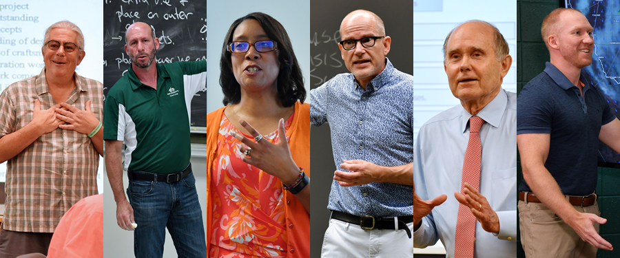 Six finalists for teaching excellence awards