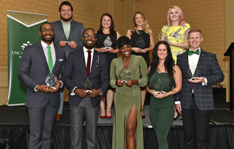 UNC Charlotte honors 10 outstanding young alumni during Homecoming