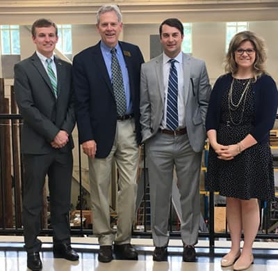 Photo of EPIC's David Young with members of Sen. Tillis' staff James Estes, Luke Blanchat and Elizabeth Edwards