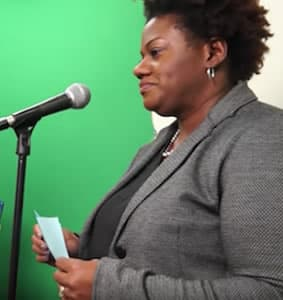 Photo of Tisha Greene, principal of the Oakhurst STEAM Academy