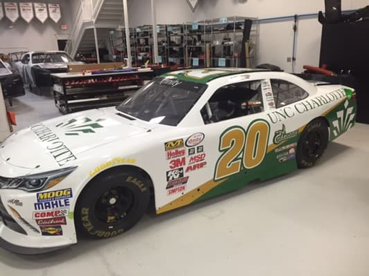 Kyle Busch Motorsports >> Business student to make NASCAR XFINITY debut sporting University logos, colors | Inside UNC ...
