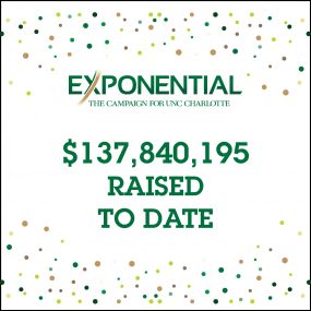 Exponential: The Campaign for UNC Charlotte - $137,840,195 Raised To Date