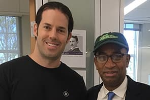 Councilman Mitchell with Ryan Kennedy ('14)