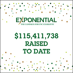 EXPONENTIAL: The Campaign for UNC Charlotte, has raised over $115,000 to date