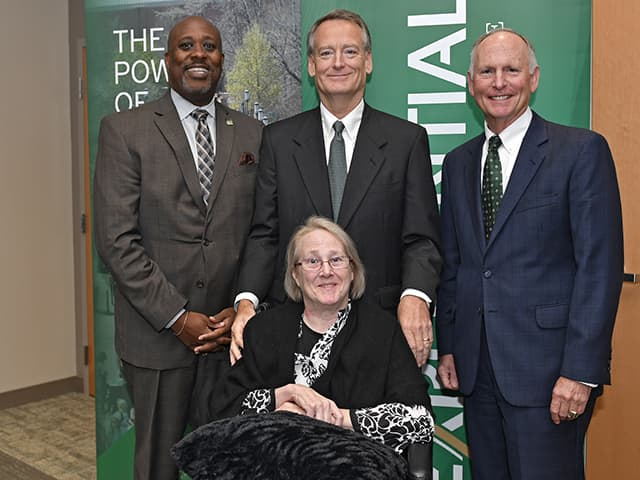 Christine and Joe Price with Kevin Bailey and Chancellor Dubois