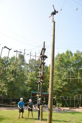 Venture Outdoor Leadership adds new elements to challenge course