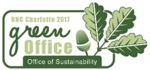 UNC Charlotte 2017 Green Office of Sustainability