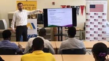 Devin Collins talks entrepreneurism in Jamaica