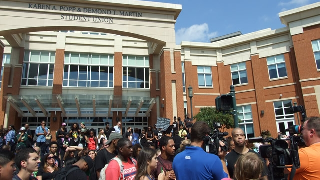 Student demonstrations at Popp Martin Student Union