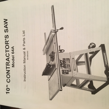 Table saw includes table extension not shown in attached image.  Rolling base included